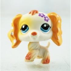... 2 White Cocker Spaniel Dog Purple Flower Green Eyes Littlest Petshop Lps 1615 Kids Toys