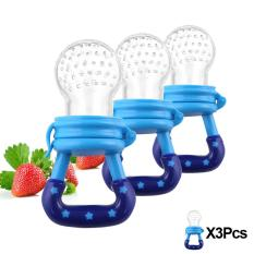 3 Pcs Baby Pacifier Fruits And Vegetables Nipple Blue (Intl) - Intl