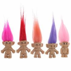5pcs / SET Moive Trolls Cute Action Figure Kids Toys Gift Dolls - Intl