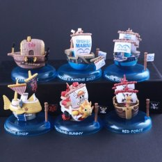 6pcs Anime ONE PIECE Action Figure Marine Smoke Thousand SunnyMaxims Ark Ship Boat Red Force Action