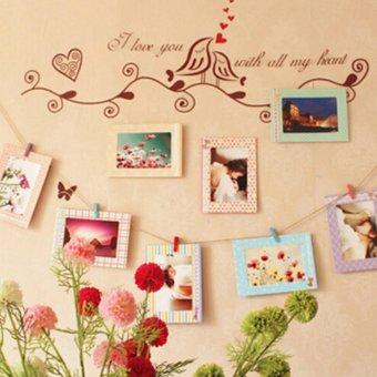 8Pcs 6 Inch Creative Gift DIY Home Decor Photo Frame Wall Hanging Paper Photo Frame Album