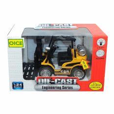 AHS Diecast / Miniatur Alat Berat Forklift Skala 1/24 - Kuning
