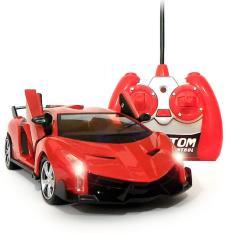 AHS RC Mobil Lamborghini Veneno Skala 1/24 Pintu Buka Tutup dengan Remote - Merah