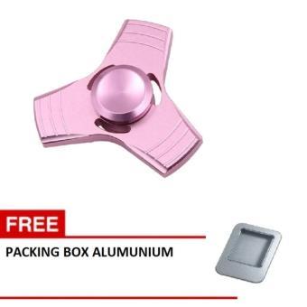 Aiueo Fidget Spinner Hand Spinner Fidget Metal Triangle Aluminium Toy Mainan Stress Fidget Ufo Anak ADHD