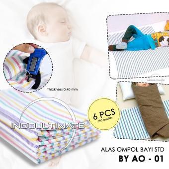 Alas Ompol Bayi 6pcs Strip BY AO-01 / Kain Alas Diapers Ompol Baby /