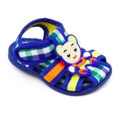 Alldaysmart Sepatu Sandal Anak Bayi 1607-102 Bunyi Decit Empuk- Blue 15/20