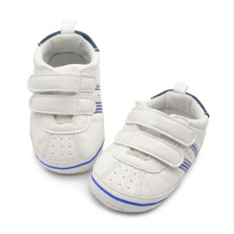 Baby Boys Toddler Leather Crib Shoes Sneaker Khaki - Intl