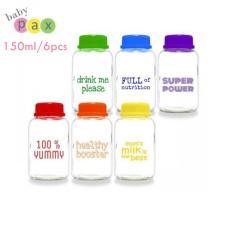 Baby Pax Botol Kaca Asi Rainbow 150 Ml Isi 6 Pcs - 1 Pack