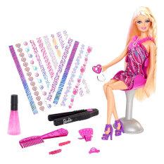 Barbie Hair Tattoos Doll - Boneka
