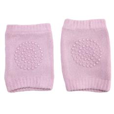 Bayi keselamatan kapas bantalan lutut kaki merayap pelindung lutut anak pendek berwarna merah muda - International