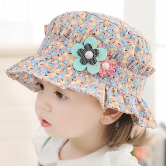Bear Fashion Baby Floral Girls Hats Caps - intl