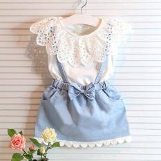 Children Imitation Jeans Sleeveless Dress