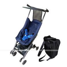 Cocolatte Stroller CL-789 New Reclining Pockit With Bagpack - Kereta Dorong Bayi - Biru