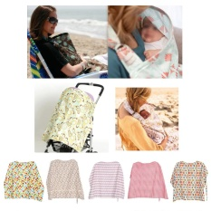 Cotton Women Mother Breastfeeding Cover Baby Infant Feeding Nursing Apron Cloth #Water Ripple - intl