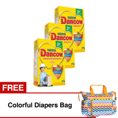 Dancow Advanced Excelnutri+ 3+ Usia 3-5 tahun - Madu - 800gr - Bundle isi 3 Box + Free Colorful Diapers Bag