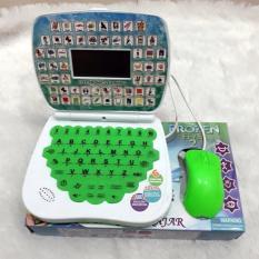 Emyli Mainan Edukasi Laptop dan mouse 2 Bahasa HIJAU