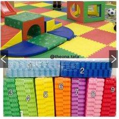 Evamat - Polos / Matras /Tikar / Karpet / Puzzle Alas Lantai Evamat Biru Tua