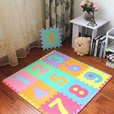 Foam Play Mats (10 Tiles) Kids Number Playmat Tiles | Non-Toxic Interlocking