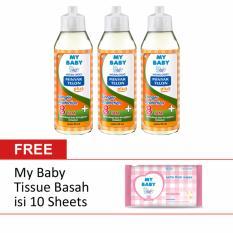 [Free Tissue Basah] My Baby Minyak Telon Plus Longer Protection 90 mL [isi 3]