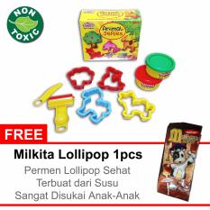 FUN DOH ANIMAL BOX MAINAN ANAK EDUKASI (free gift permen milkita)