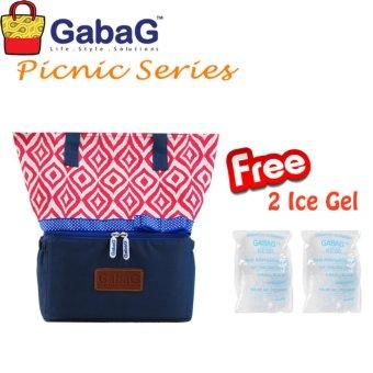 GabaG Cooler Bag Big Picnic Series Ulos (Free 2 Ice Gel)