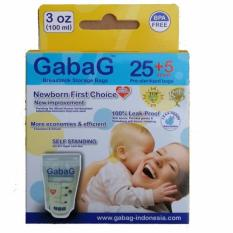 Gabag Kantong ASI BPA Free - Breastmilk Storage Bag Newborn 100ml - 25+5 lembar(Clear)