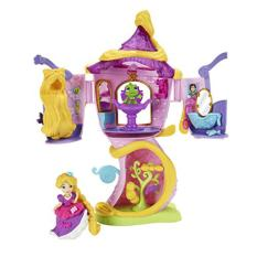 Hasbro Disney Princess Little Kingdom Rapunzel's Stylin' Tower - Castle Rapunzel, Istana Rapunzel Tower