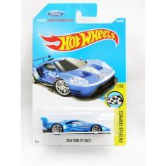 Hot Wheels 2016 Ford GT Race - biru
