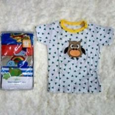 Igloo Short Tee / Kaos Kancing Pundak Baby Cowok 5 in 1 Uk 9 Bulan