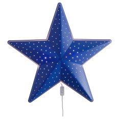 Ikea Smila Stjarna Lampu Tidur Anak Bentuk Bintang - Biru