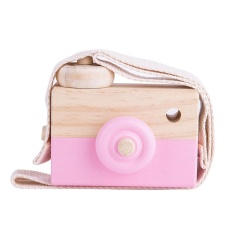 INS Super Cute Baby Kids Wooden Camera Carft Toy Photograph Props Gift Decor (Pink) - intl