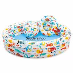 intex 59469 paket Kolam Renang anak [ kolam + Bola + Pelampung ] / Kolam Renang anak Full set
