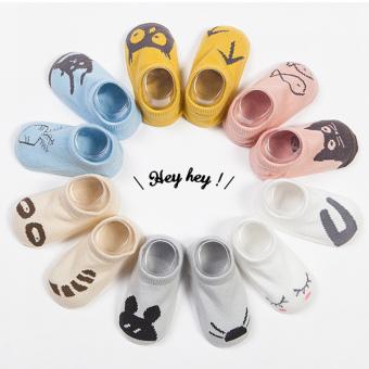 Jiayiqi 1 pasang kaus kaki katun lembut Bayi Unisex Bayi Hewan LucuGambar Kartun kaos (kapal
