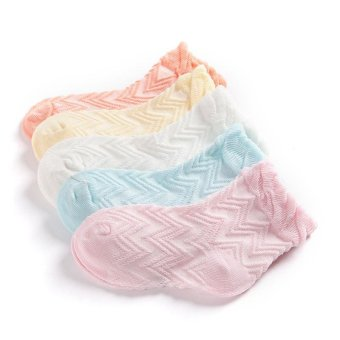 Jiayiqi 5 Pairs Breathable Mesh Baby Girls Boys Ankle Socks ForSummer - intl