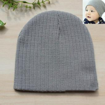 Jiayiqi Girls & Boys Knit Baby Hats Beanie Candy Color Toddler Children Hat - intl