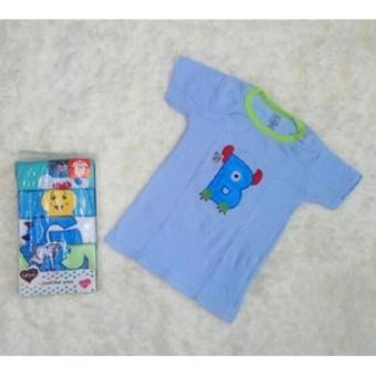 Kaos Lengan Pendek / Tee 5 in 1 Kancing Pundak / Baju Baby Cowok - Umur