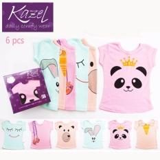 Kazel Tshirt Girl Panda Edition isi 6 pcs - XXl