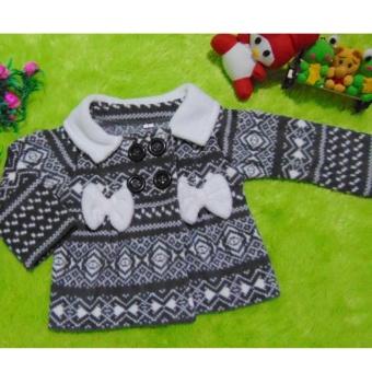 kembarshop - jaket bayi mantel bayi aztec abu 0-12 bulan
