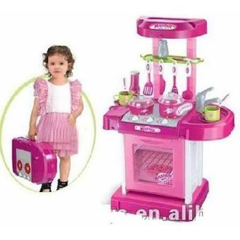 Kitchen Set Koper Pink Mainan Anak ( Best Seller)
