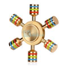 Kokakaa Fidget Hand Spinner BraSS Premium Gold Color SLIM Mainan Anti Stress