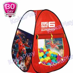KokaPlay Tenda Mainan Anak Camping Indoor Segitiga Karakter Big Robot Hero 6