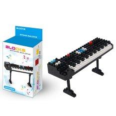 Koleksi Nano blok mini musik instrumen gitar balok-balok bangunan mainan 180 buah (Synthesizer 3301)