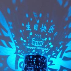 leegoal romantis otomatis memutar itik Sky lampu proyektor bintang lampu malam LED dengan musik warna acak Star Master
