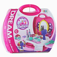 Lumi Toys Mainan Peralatan Make Up / Dream Fashion Kit Koper - Pink