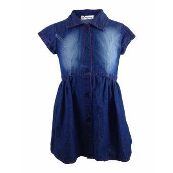 Macbee Baju Dress Anak Bahan Denim Variasi Ombre