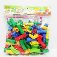 Mainan Edukatif Anak Block Brick Model Pipa Pipe Roda