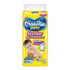 MamyPoko Pants Standar Popok Bayi dan Anak Unisex Diapers Tipe Celana Size M - 34 Pcs
