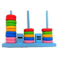 Menara Hitung - Mainan Edukasi Anak Balok Melatih Konsentrasi Warna dan Perhitungan