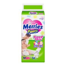 Merries Popok Pants Good Skin - M 34 - Karton Isi 2