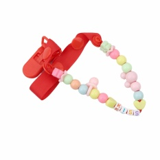 Mother Baby Pacifiers  Cute Baby Infant Soother Pacifier Clips Holders Chain Leashes Cases (Red) - intl